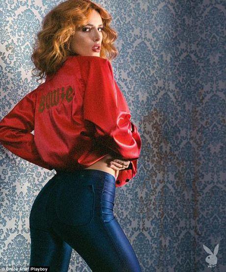 'Cong chua Disney' Bella Thorne ho bao tren tap chi Playboy - Anh 2