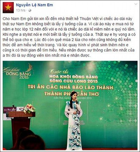 Phan ung cua Nam Em khi bi to 'nhai' ao dai tai Miss Earth 2016 - Anh 2