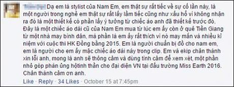 Phan ung cua Nam Em khi bi to 'nhai' ao dai tai Miss Earth 2016 - Anh 3