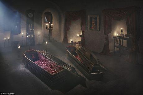Rung ron trai nghiem Halloween o lau dai Dracula - Anh 3