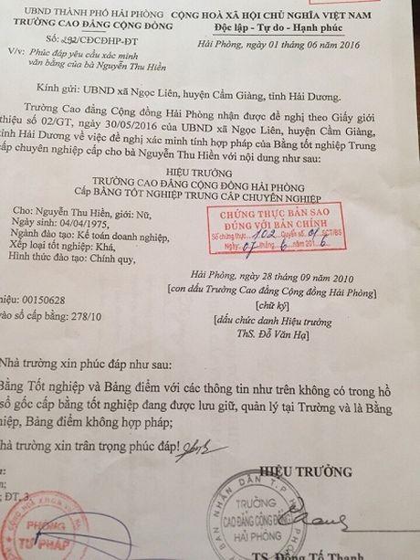 UBND xa Ngoc Lien (huyen Cam Giang - Hai Duong): Ke toan dung bang gia, van chua bi xu ly - Anh 1