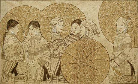 Cuc nhu sang tac tranh khac go - Anh 4