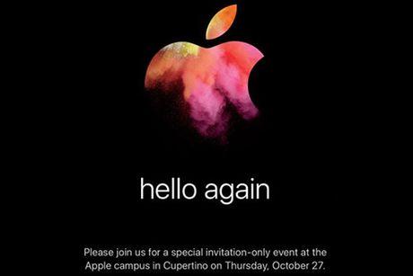 Apple chinh thuc gui thu moi su kien ra mat san pham 27/10 - Anh 1