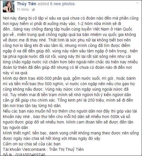 Phan Anh len tieng khi bi che tu thien sai cho, Thuy Tien cong khai tien ung ho khung - Anh 13