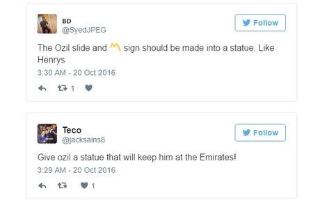Fan Arsenal doi duc tuong Mesut Ozil - Anh 2