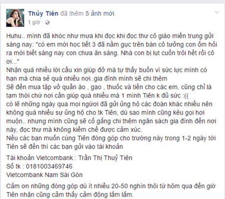 Thuy Tien khoc nhu mua khi doc thu cua co giao tu vung lu - Anh 2