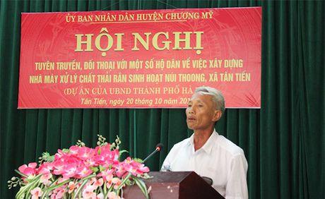 Doi thoai voi nguoi dan ve du an xu ly chat thai tai nui Thoong - Anh 1