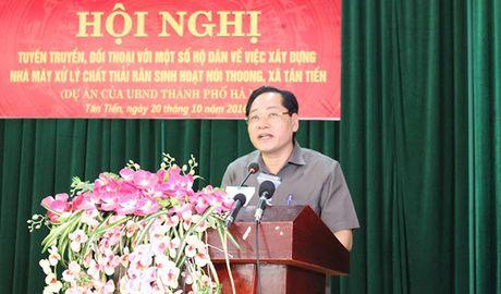 Doi thoai voi nguoi dan ve du an xu ly chat thai tai nui Thoong - Anh 2