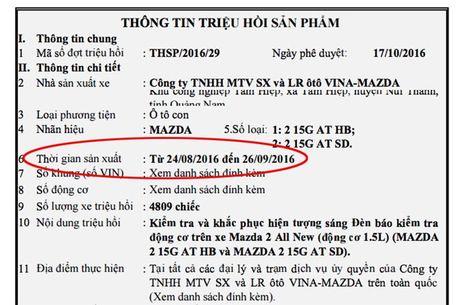 Trieu hoi them hon 4.800 chiec Mazda2 tai Viet Nam - Anh 3