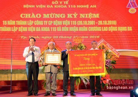 Benh vien Da khoa 115 Nghe An don nhan Huan chuong Lao Dong hang Ba - Anh 1