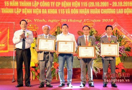 Benh vien Da khoa 115 Nghe An don nhan Huan chuong Lao Dong hang Ba - Anh 5