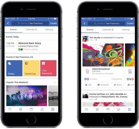 Facebook ho tro goi mon an, xep lich lam dep - Anh 1