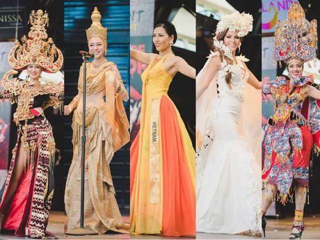 Nguyen Thi Loan lot Top 10 Trang phuc dan toc dep nhat 'Hoa hau Hoa binh The gioi' - Anh 1