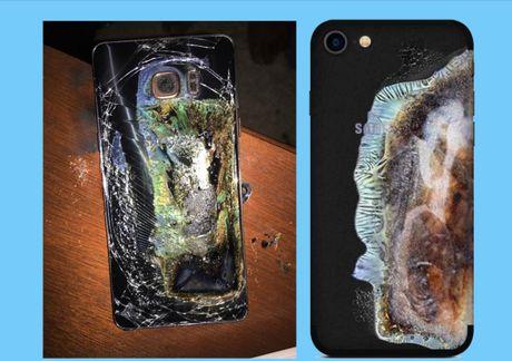Nhung trao luu an theo vu Note 7 no 'xat muoi vao long Samsung' - Anh 1