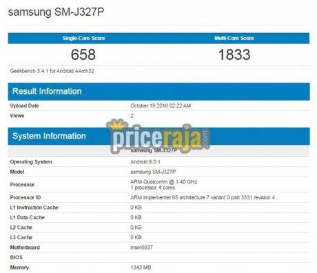 Samsung Galaxy J3 (2017) xuat hien tren Geekbench - Anh 2