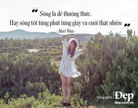 Hari Won: Song la de thuong thuc, hay song tot tung phut tung giay - Anh 6