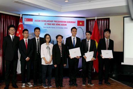 Dai su quan Singapore trao hoc bong ASEAN cho 8 hoc sinh Viet Nam - Anh 1