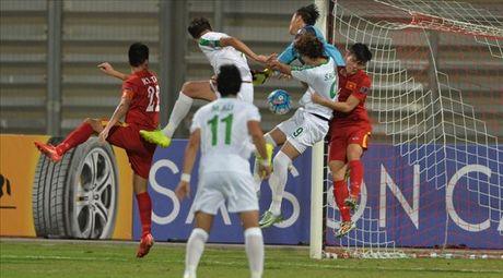 Clip U19 Viet Nam cam hoa Iraq doat ve vao Tu ket U19 chau A - Anh 1