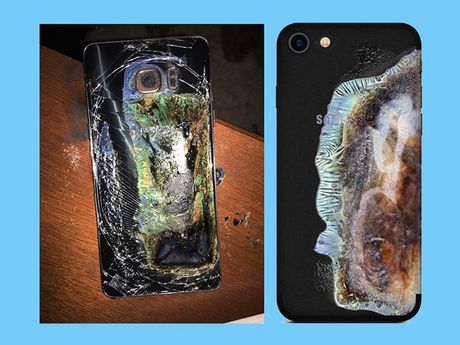Case bao ve trang tri iPhone thanh chiec Galaxy Note 7 bi no - Anh 1