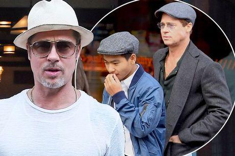 Con trai lon da dong y gap Brad Pitt - Anh 2