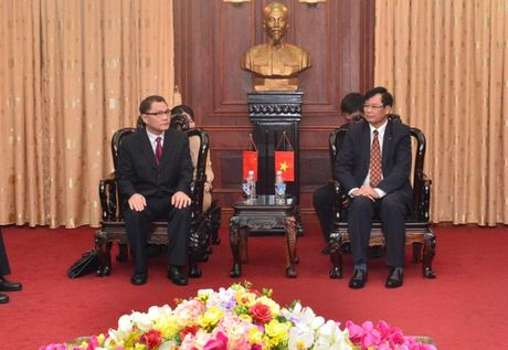 Lanh dao VKSNDTC tiep Doan dai bieu VKSND Khu tu tri dan toc Choang Quang Tay, Trung Quoc - Anh 1
