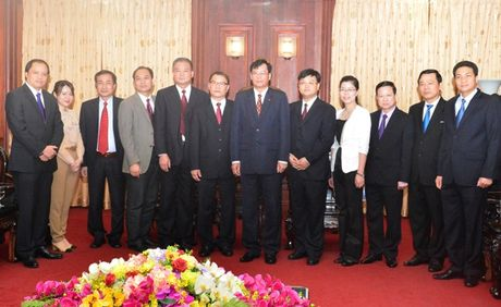 Lanh dao VKSNDTC tiep Doan dai bieu VKSND Khu tu tri dan toc Choang Quang Tay, Trung Quoc - Anh 2