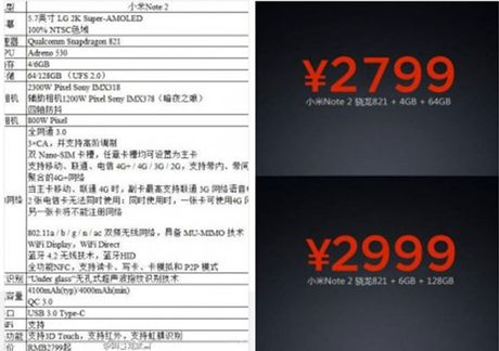 Ro ri toan bo thong so Xiaomi Mi Note 2: camera kep 23MP/12MP, cam bien mong mat - Anh 3