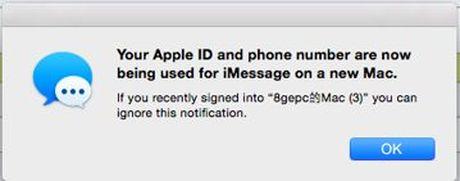 iPhone nhan tin nhan tieng Trung va bi hack Apple ID - Anh 1