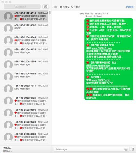 iPhone nhan tin nhan tieng Trung va bi hack Apple ID - Anh 2
