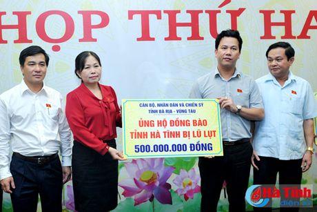 Ba Ria - Vung Tau ung ho nhan dan vung lu Ha Tinh 500 trieu dong - Anh 2