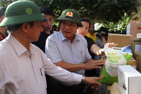 Bo truong Truong Minh Tuan tham va tang qua dong bao bi lu lut tai Ha Tinh, Quang Binh - Anh 5