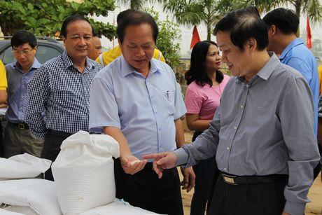 Bo truong Truong Minh Tuan tham va tang qua dong bao lu lut Quang Binh - Anh 6