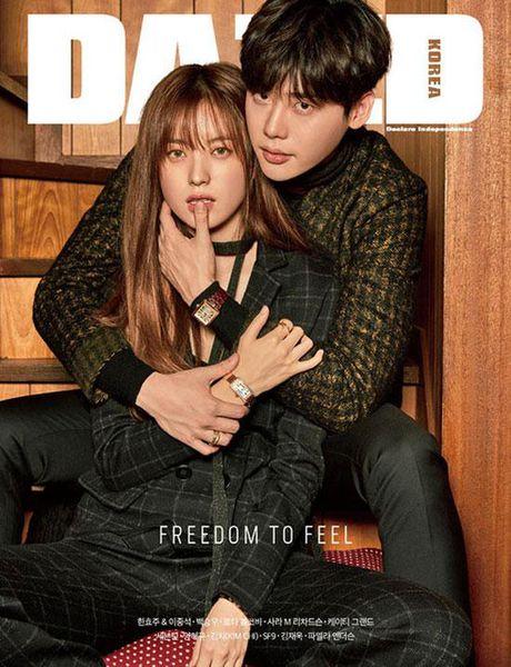Lee Jong Suk va Han Hyo Joo cua 'W - Hai the gioi' qua tinh tu tren tap chi - Anh 6