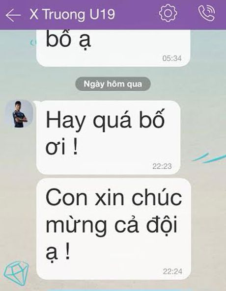 Dong Trieu, Xuan Truong chuc mung U19 Viet Nam - Anh 1