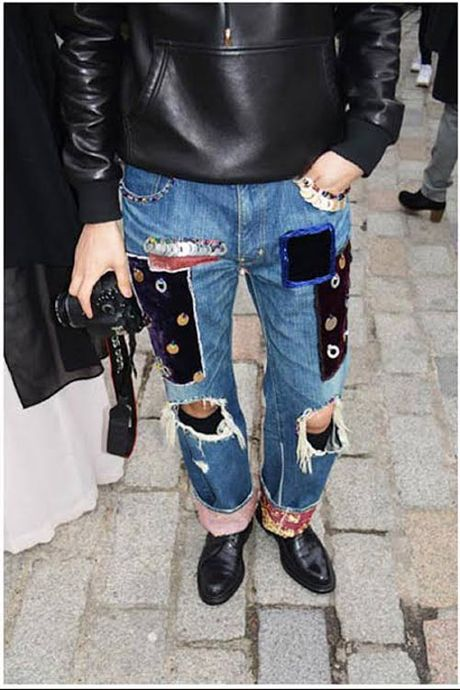 'Nong mat' voi mot quan jeans rach cua gioi tre - Anh 6