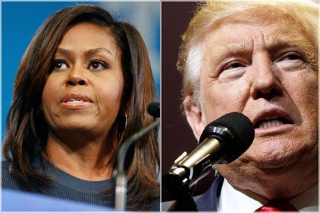De nhat phu nhan Michelle Obama manh me to Trump dang 'de doa nuoc My' - Anh 1