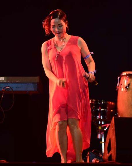 Diva My Linh 'nhay nhu len dong' o Monsoon, khan gia hon nhau - Anh 1