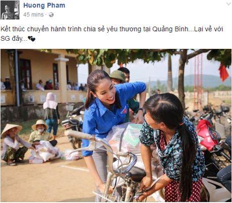 Hoa hau Pham Huong 'hoa' tien nu tai vung lu Quang Binh - Anh 1