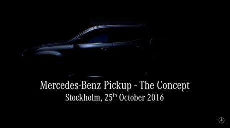 Teaser ve mau xe pick-up cua Mercedes-Benz; 25/10 ra mat o Stockholm - Anh 3