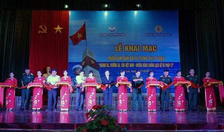 Trien lam ban do chu quyen Hoang Sa, Truong Sa cua Viet Nam tai Quan doan 3 - Anh 1