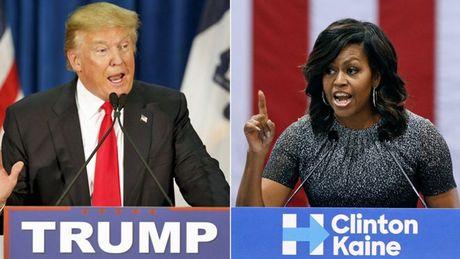Donald Trump lan dau cong khai chi trich Michelle Obama - Anh 1