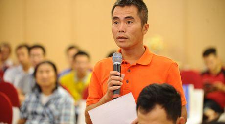 HLV Minh Duc boi hoi cung tuoi 20 cua giai U.21 - Anh 1