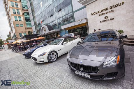 Dan xe quy toc Maserati giao luu cuoi tuan tai Saigon Coffee Club - Anh 1