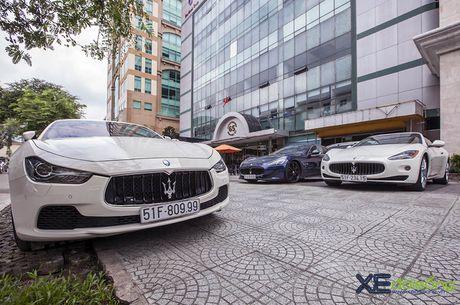 Dan xe quy toc Maserati giao luu cuoi tuan tai Saigon Coffee Club - Anh 7
