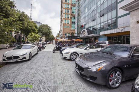 Dan xe quy toc Maserati giao luu cuoi tuan tai Saigon Coffee Club - Anh 8