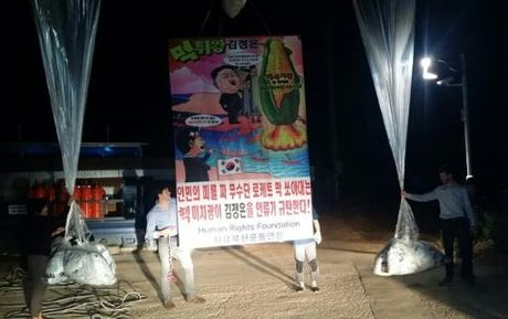 Han Quoc tha truyen don phu kin bien gioi phan doi Trieu Tien - Anh 1