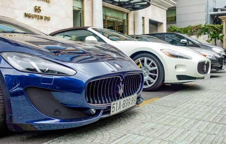 Dan xe sang Maserati xuat hien o trung tam Sai Gon - Anh 4