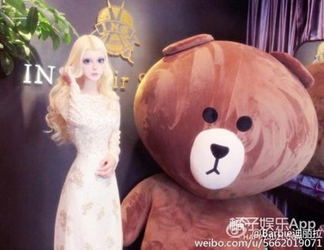 Co gai Trung Quoc co guong mat giong het bup be Barbie - Anh 7