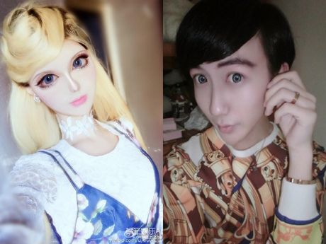 Co gai Trung Quoc co guong mat giong het bup be Barbie - Anh 9