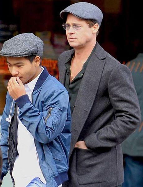 Brad Pitt lan dau gap con trai Maddox sau cao buoc bao hanh - Anh 1